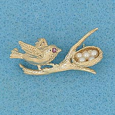 Bird's Nest Pin