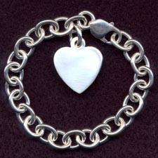 Silver Heart Charm Bct.